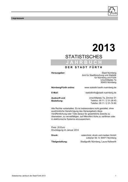 Jahrbuch 2013 (PDF) - Stadt Nürnberg