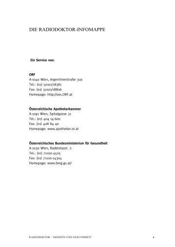 Leben mit Morbus Parkinson - Ö1 - ORF