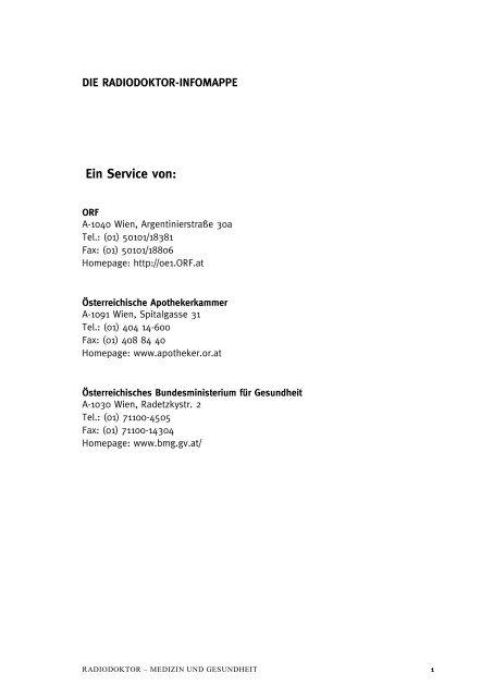 Epilepsie - Ö1 - ORF
