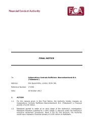 U.K. FCA Final Notice - Wall Street Journal
