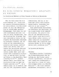 E X B I B L lOT H E C A MON AST E R I I NEU S ... - OPUS Würzburg