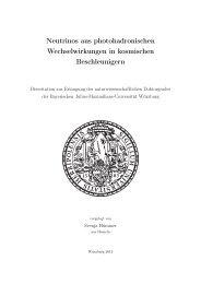 Neutrinos aus photohadronischen ... - OPUS Würzburg