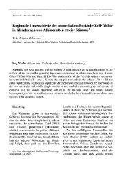 Regionale Unterschiede der numerischen Purkinje-Zell-Dichte in ...