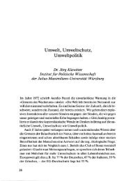 Umwelt, Umweltschutz, Umweltpolitik - OPUS Würzburg - Universität ...