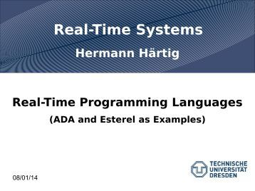 Real-Time Programming Languages - Operating Systems