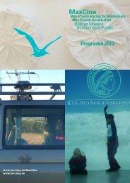 MaxCine Programm 2013 - Max-Planck-Institut für Ornithologie