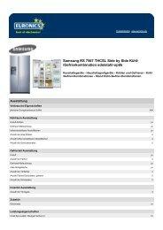 Produktdatenblatt Samsung RS 7567 THCSL Side by ... - Icecat.biz