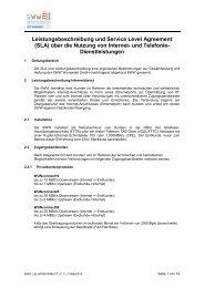 Leistungsbeschreibung und Service Level Agreement - SWW ...