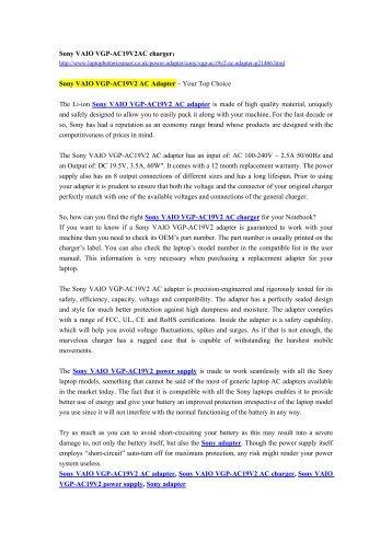 Sony VAIO VGP-AC19V2 AC Adapter – Your Top Choice.pdf