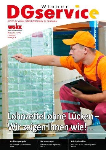 WGKK DGservice 1/2013 - Wiener Gebietskrankenkasse