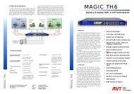 MAGIC TH6.pdf - AVT Audio Video Technologies GmbH