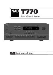 T770 manual (GB F D E) - NAD