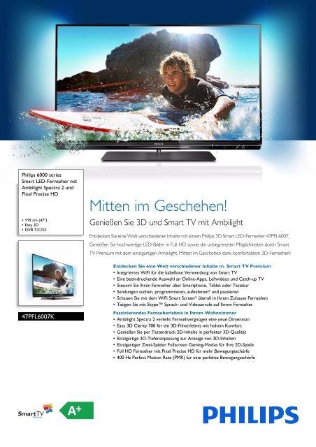 Leaflet 47PFL6007K_12 Released Switzerland (German ... - Philips