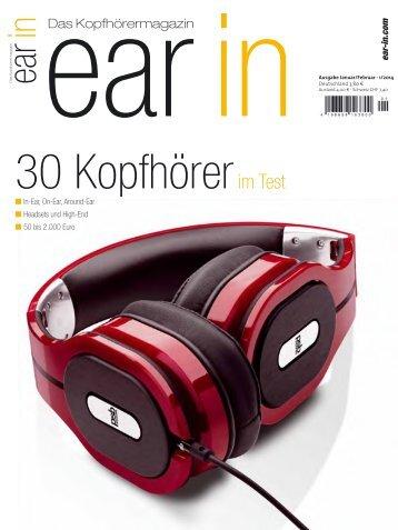 Ear IN Das Kopfhörermagazin - Januar/Februar 2014