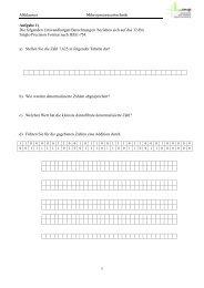 Altklausur Mikroprozessortechnik 1 Aufgabe 1) Die folgenden ...