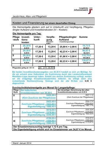 Informationen zum Thema Finanzierung - Johanneswerk