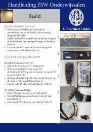 Handleiding FSW Onderwijszalen Beeld - Universiteit Leiden