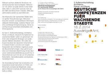 Programmflyer - Zentralverband Deutsches Baugewerbe