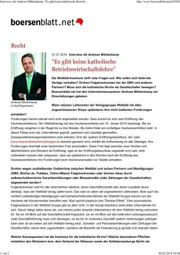 """Interview mit Andreas Möhlenkamp: """"Es gibt keine katholische ... - BKU"""