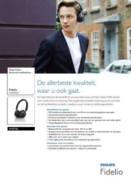 M1BTBL/00 Philips Bluetooth-hoofdtelefoon