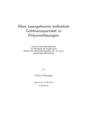 diss_SCHWAIGER.pdf - OPUS Bayreuth - Universität Bayreuth