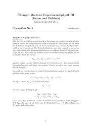 ¨Ubungen Moderne Experimentalphysik III (Kerne und Teilchen ...