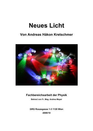Neues Licht - Universität Wien