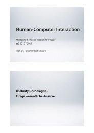 1. HCI / Software-Ergonomie / Usability / UX - Beuth Hochschule für ...