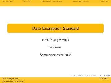 Data Encryption Standard - Beuth Hochschule für Technik Berlin