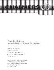 Zeolit Pt/H-β som isomeriseringskatalysator för biodiesel - Chalmers ...