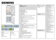 Siemens KI77SAF30 Einbau-Kühl-Gefrier-Kombination FLACH ...