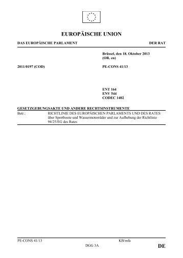 DE EUROPÄISCHE UNION - Öffentliches Register der Ratsdokumente