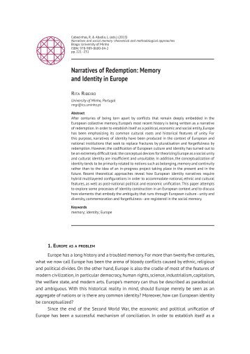 Narratives of Redemption: Memory and Identity in Europe