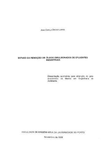 Separação de óleos emulsionados de efluentes industriais