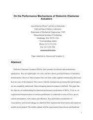 On the Performance Mechanisms of Dielectric Elastomer Actuators ...