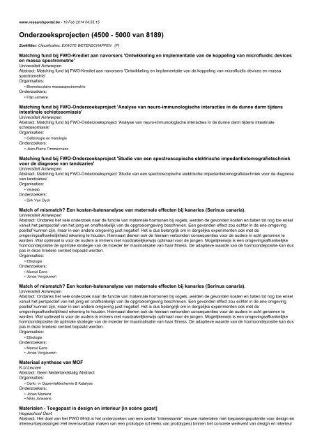 Onderzoeksprojecten (4500 - 5000 van 8189)