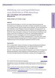 Abbildung von Leasingverhältnissen nach ED/2013/6 im IFRS ...