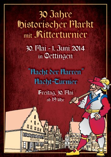 Programmheft Historischer Markt Oettingen 2014
