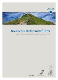 Beck'scher Referendarführer - Verlag C. H. Beck oHG
