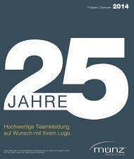 münz teamkleidung - Katalog Frühjahr   Sommer 2014