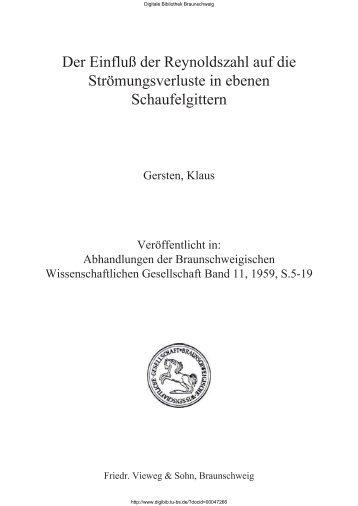 Abhandlungen der Braunschweigischen Wissenschaftlichen ...