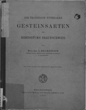 Die technisch nutzbaren Gesteinsarten des Herzogtums ...