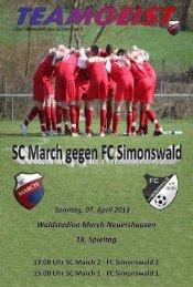 07.04.13 Ausgabe zum Heimspiel gegen FC Simonswald - SC March