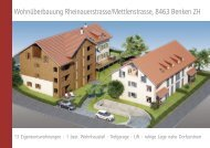 Wohnüberbauung Rheinauerstrasse/Mettlenstrasse, 8463 Benken ZH