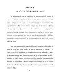 CHAPTER - III CAUSES AND CONSEQUENCES OF STRIKE The ...