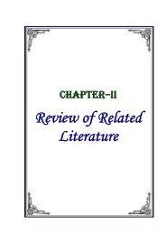 Review of Related Literature - Shodhganga