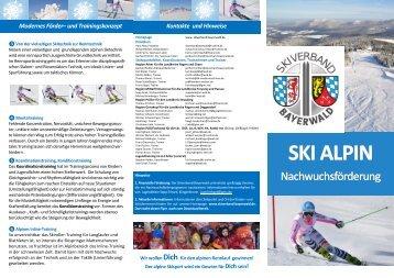 SKI ALPIN SKI ALPIN - Skiverband Bayerwald