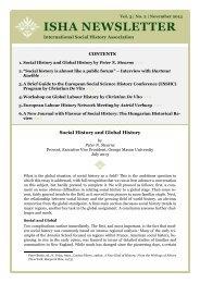 ISHA Newsletter vol 3 no 2 (November 2013) - International Institute ...
