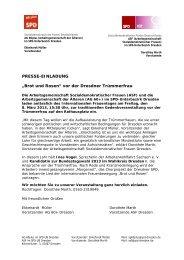 """PRESSE-EINLADUNG """"Brot und Rosen"""" vor der Dresdner ..."""