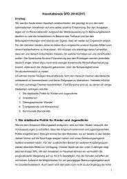 Haushaltsrede 2014/15